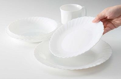 iwaki ファミエット シルクホワイト 中皿 23cm 5枚セット